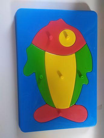 Детская игрушка рыбка пазл