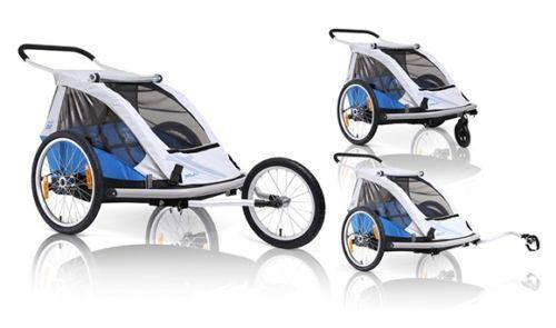 XLC croozer Przyczepka rowerowa dla 2 dzieci DUO WÓZEK + JOGGER 3w1