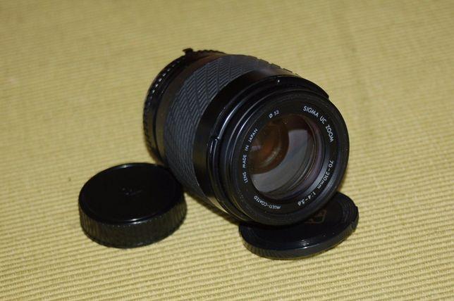 Objectiva SIGMA 70-210mm Contax/Yashica