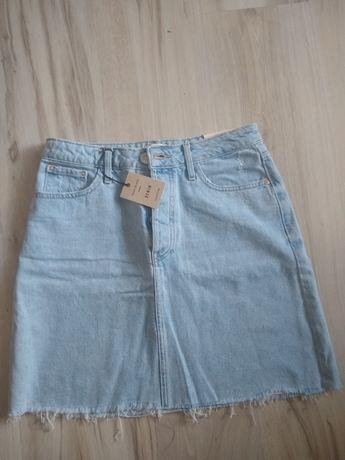 RIVER ISLAND spódnica jeansowa