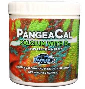 Wapń od Pangea + Pangea wszystkie smaki - gekon orzęsiony