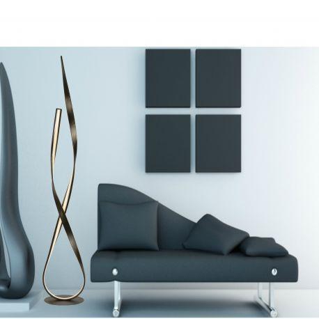 Nowoczesna czarno złota lampa podłogowa LED Linda Paul Neuhaus 720-48