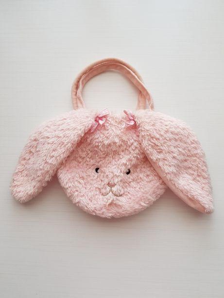 Torebka dla dziecka dziewczęca różowy króliczek