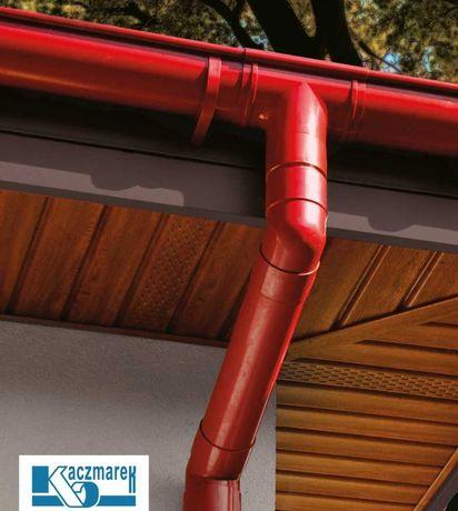 Rynna dachowa Kaczmarek PVC Cały system Grafit Brąz