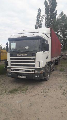 Тягач Scania + прицеп