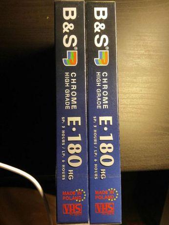 Kaseta VHS B&S E-180 HG Pal Secam NOWA jeszcze zafoliowana