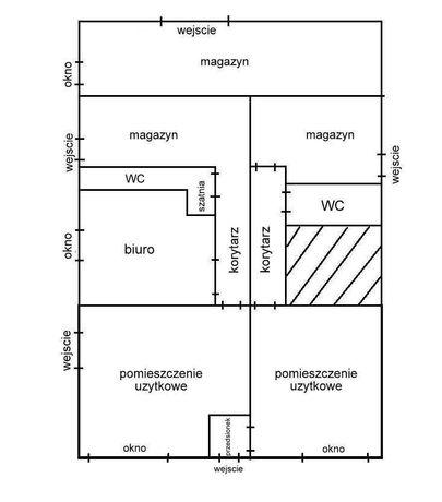 Pomieszczenia Biurowe magazyn 205m2  7km od drogi ekspresowej S7