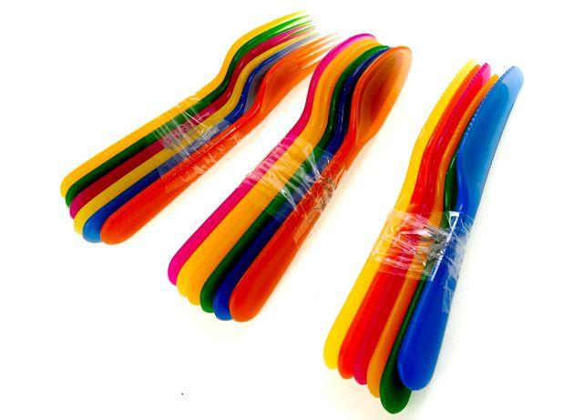 Пластикові ложки, вилки, ножі 18 шт Ernestо Німеччина столовые приборы