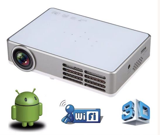 Projetor laser (DLP) com Wi-Fi, android e 3D