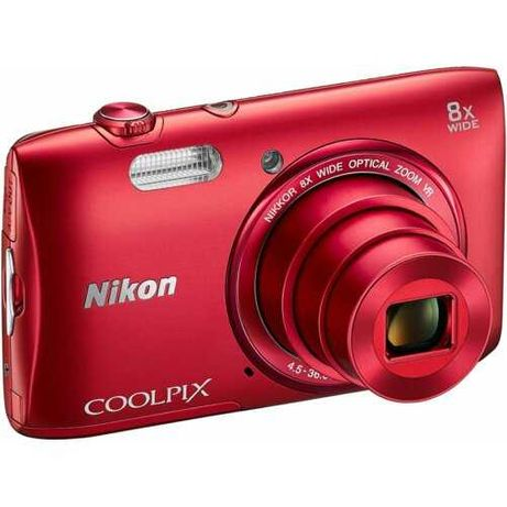 Aparat CYFROWY NIKON COOLPIX S3600 Czerwony +Pokrowiec.