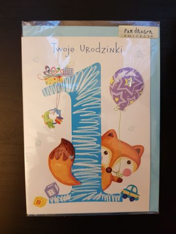 Kartka okolicznościowa roczek 1 urodziny