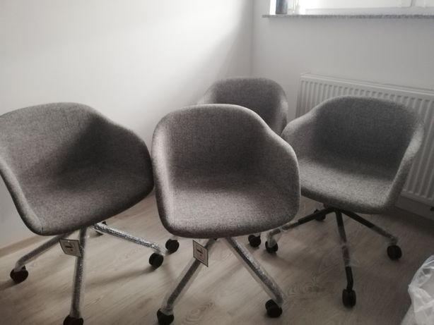 Nowe nowoczesne Krzesła Fiber Armchair Swivel Front