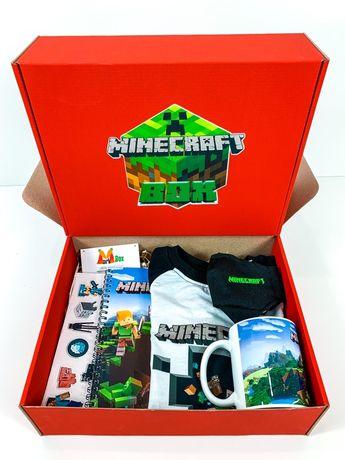Minecraft Майнкрафт Бокс Подарок вашему ребенку - чашка, футболка