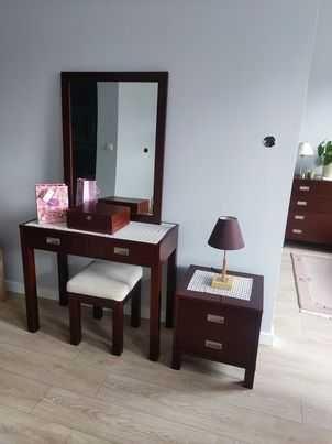 meble z litego drewna buk. sypialnia łóżko komoda toaletka ława szafki