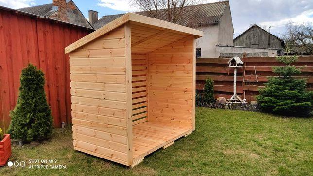 Drewutnia, wiata na drewno 6m3 dostępność od ręki. Pępowo