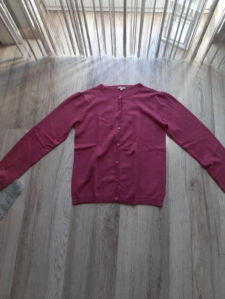 Różowy rozpinany sweter dziewczęcy