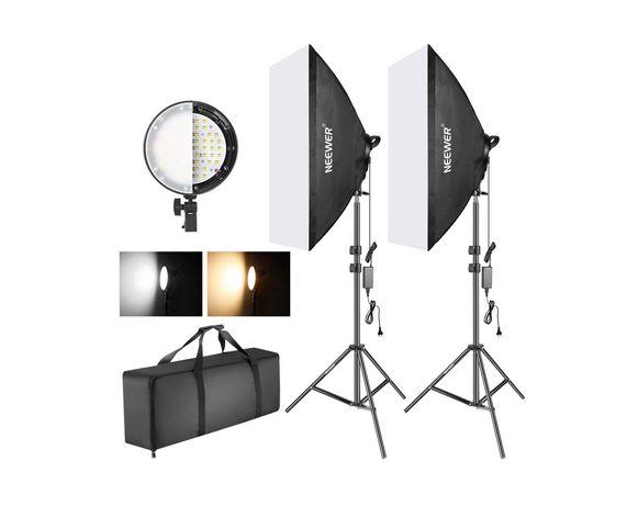 Kit iluminação foto e vídeo 2 softboxes LED bicolor Neewer