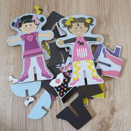 Układanka magnetyczna Melissa and Doug drewniane lalki z ubrankami