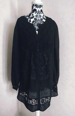 Dłuższa bluzka bawełniana 44-48