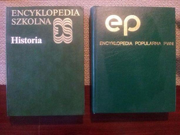 Encyklopedia Popularna PWN i Encyklopedia Szkolna Historia PWN