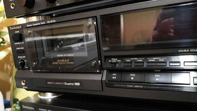 Magnetofon kasetowy Technics RS-B 755. 3Head QD Direct Drive.
