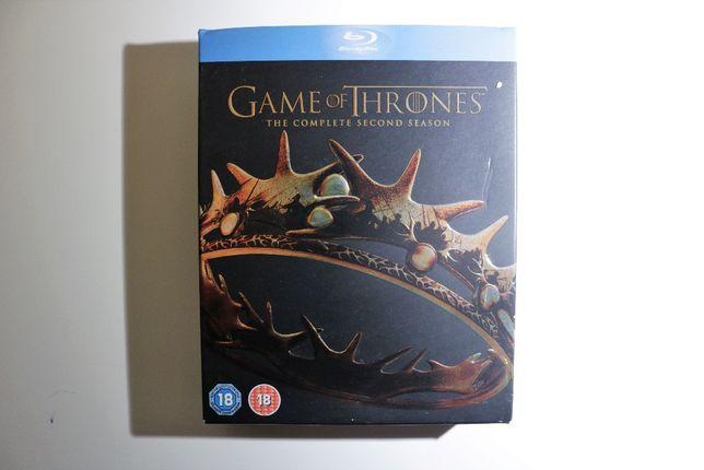 Games of Thrones 2ª temporada blue-ray edição especial