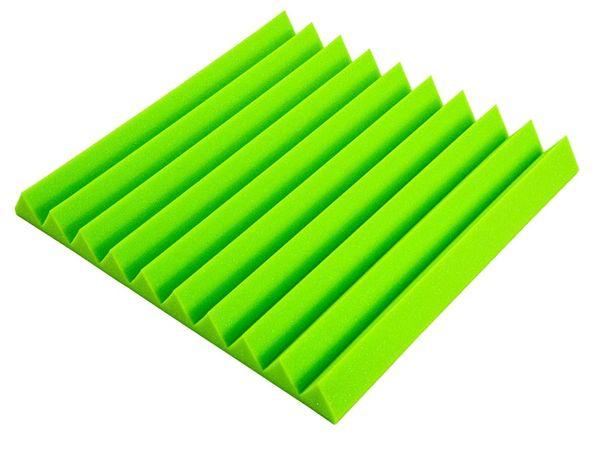 Klin zielony pianka akustyczna panel gąbka pochłanianie dźwięku echo
