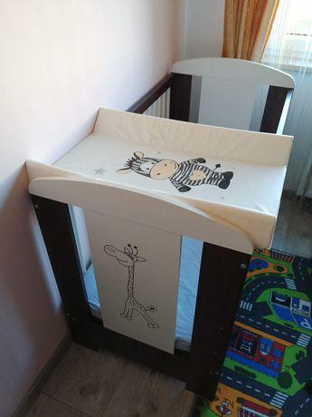 Łóżeczko dziecięce +materacyk + przewijak + stelaż