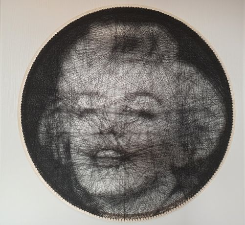 Portret z nici Marylin Monroe string art