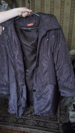 зимняя коричневая куртка большой размер