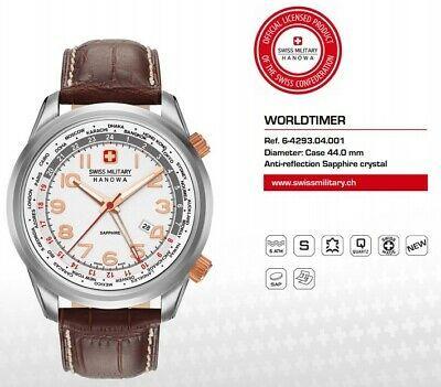 Zegarek męski Swiss Military Hanowa Worldtimer * Szafir * SWISS MADE