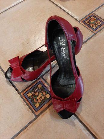 Sandały damskie czerwone