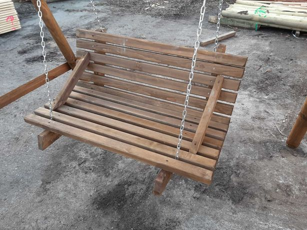 Huśtawka ławka bujawka drewniana