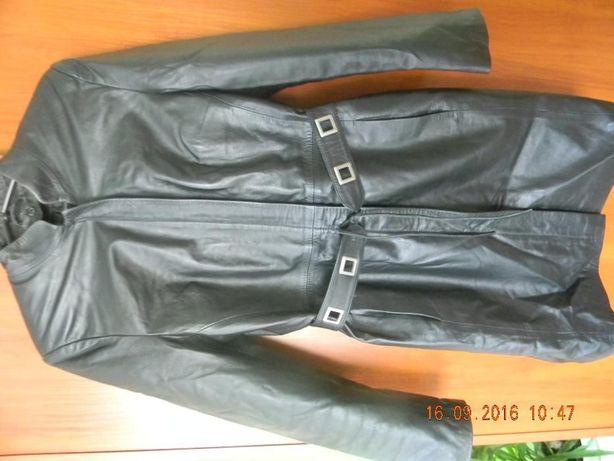 Płaszcz czarny skórzany rozm. L