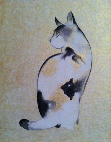 Картина Котик, репродукция Тошиюки Эноки