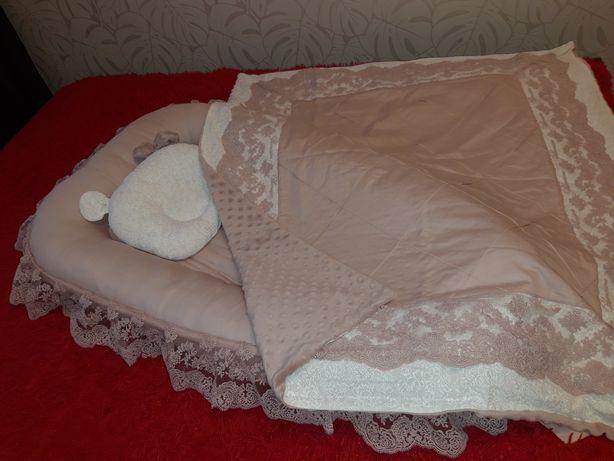 Детский постельный набор,  комплект, набор в кроватку,  кокон, конверт