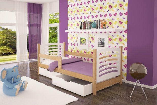 Drewniane łóżko Janek dziecięce dla jednej osoby, dostawa gratis