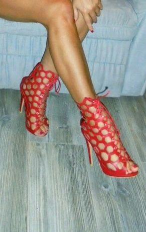 Sandalki gladiatorki na szpilce rozm.36