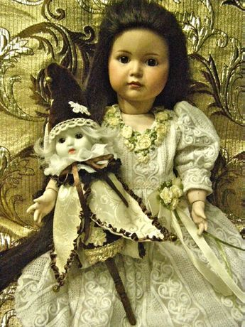 Marotte для крупной антикварной куклы.