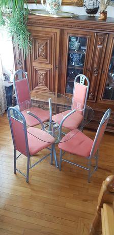 Stół z krzesłami na balkon taras.