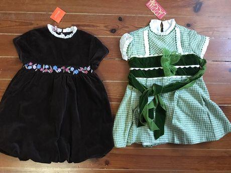 Vestidos de festa GOCCO e La RRANA 5 e 6 anos - NOVO