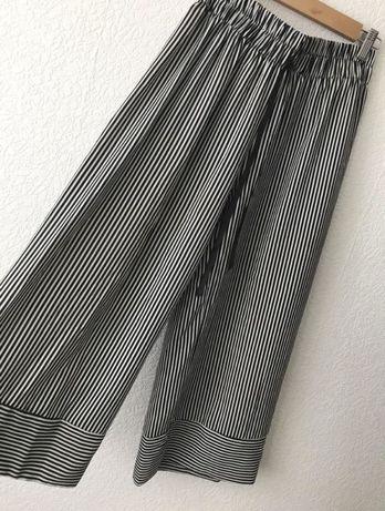 Кюлоты брюки в полоску широкие