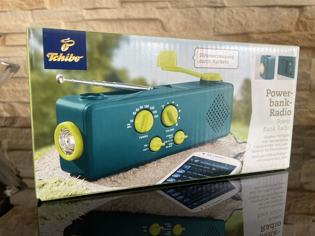 Radio ładowarka latarka powerbank z dynamo Tchibo