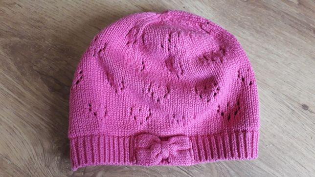 Śliczna wiosenno- jesienna Miniclub czapeczka dla dziewczynki