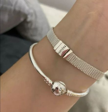 Bransoletka Pandora pasek srebrny próba S925 ALE