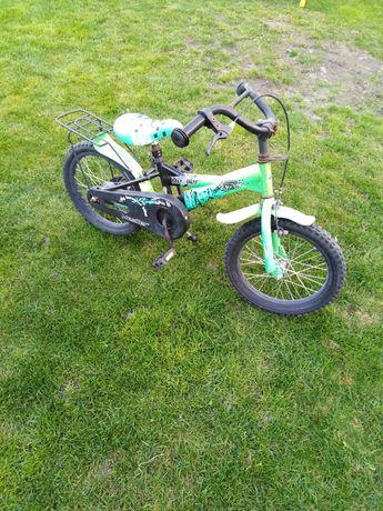 rower dziecięcy 16 cali + kółka boczne