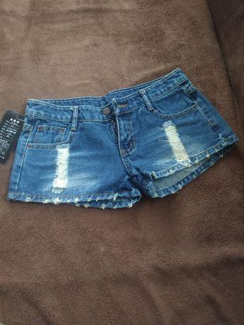 Шорти джинсові укорочені
