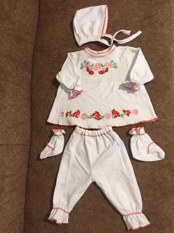 Вишиванка, вишитий костюм комплект набір на хрещення