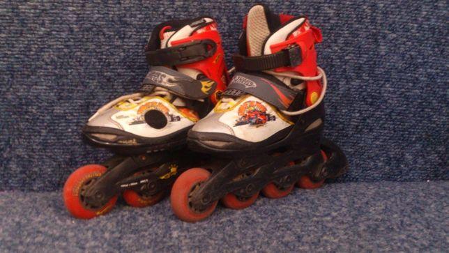 Ролики роликовые коньки детские Xotwheels раздвижные размер 30-33