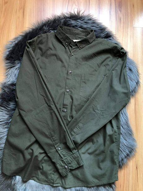 Zielona koszula męska khaki